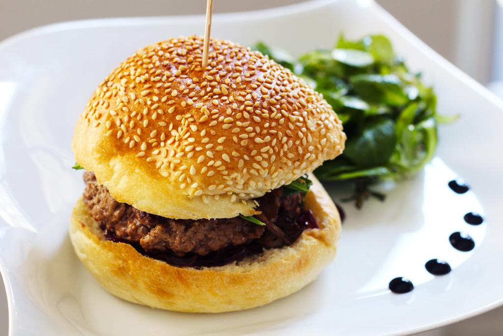 Burger d'automne avec La Villageoise en cuisine