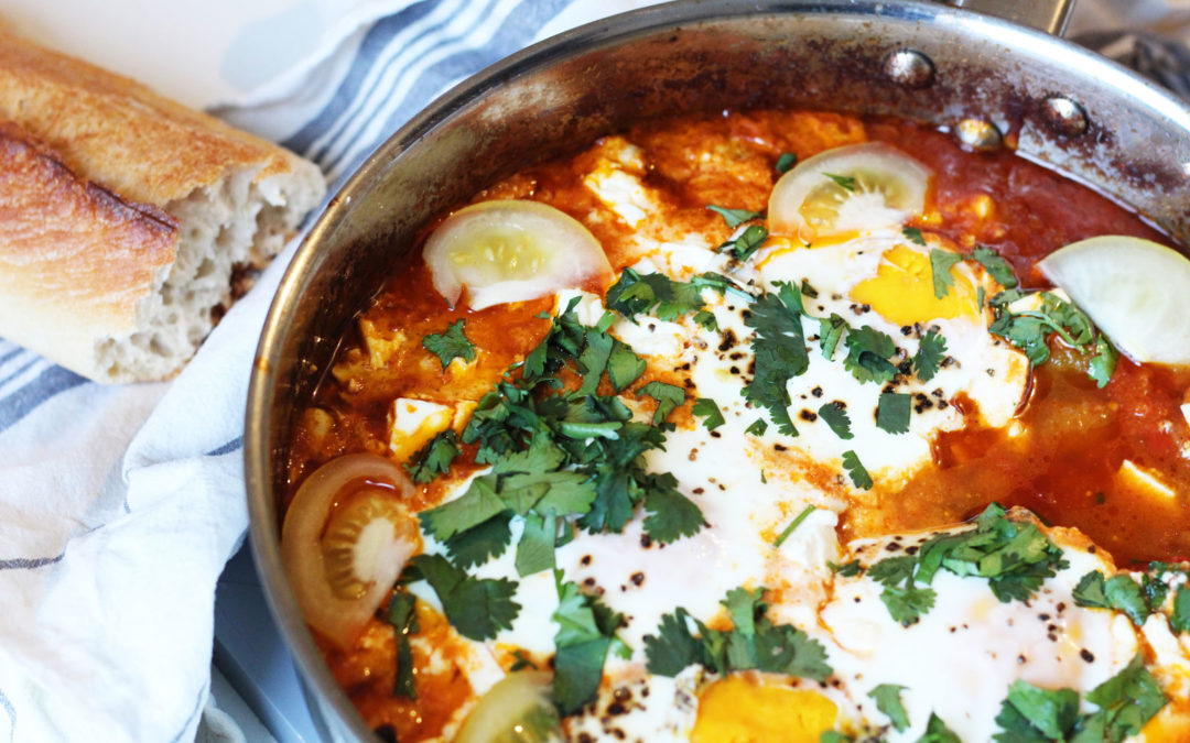 Shakshuka (Oeufs, tomates et feta)