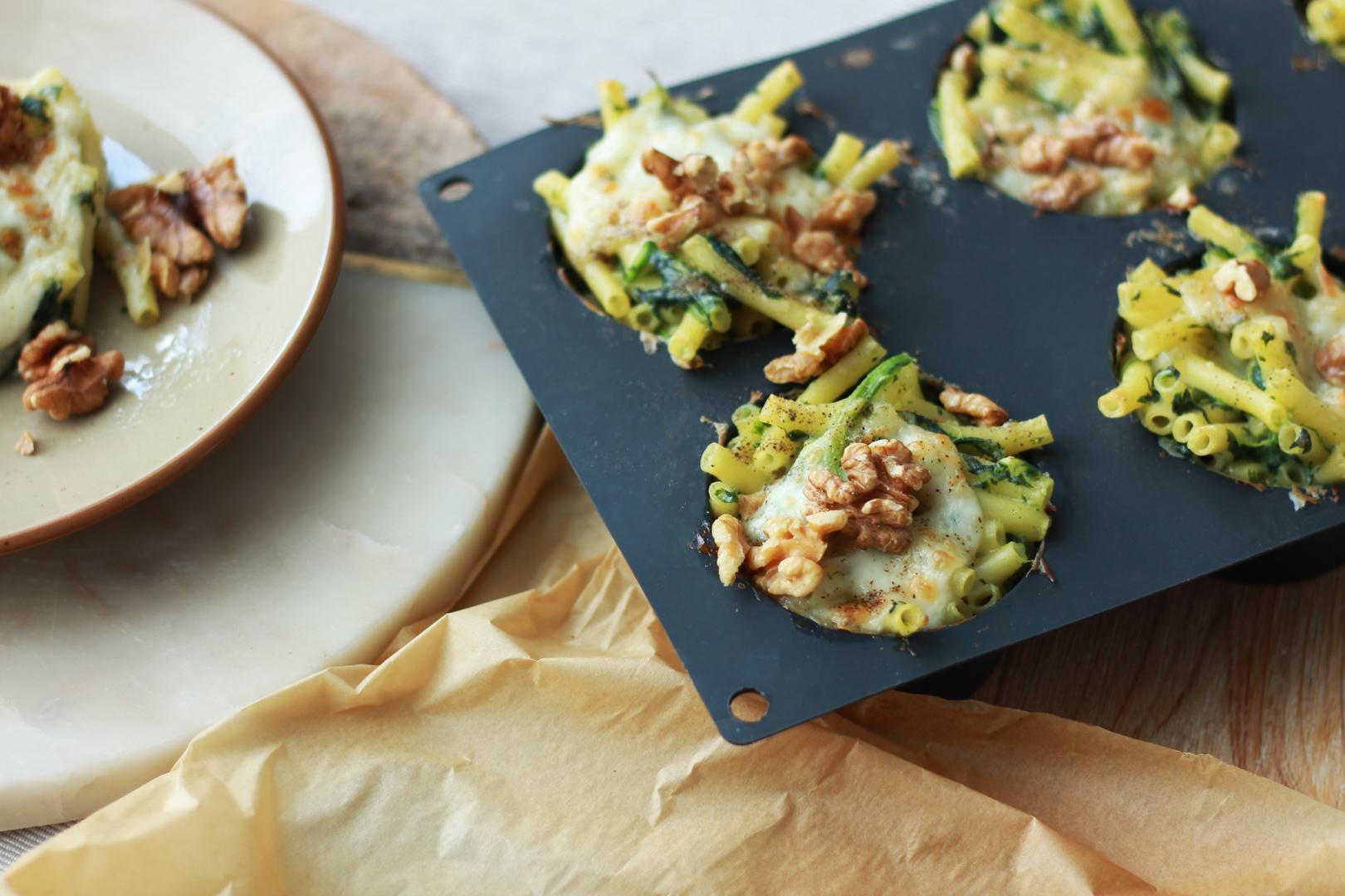 Mac'n'cheese aux épinards